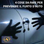 4 cose da fare per prevenire il furto dell'auto