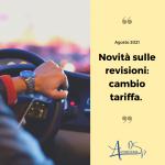 Revisione auto : novità sul cambio tariffa.